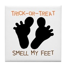 Smell My Feet Halloween Tile Coaster