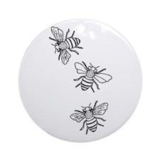 Honey Bees Ornament (Round)