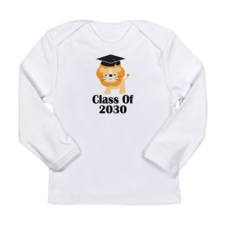 Cute Lion Future Graduate 2030 Gift Long Sleeve In