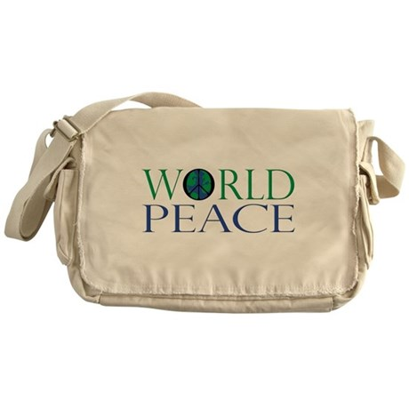World Peace Canvas Messenger Bag