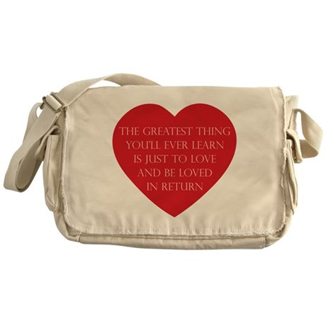 Love and be Loved Canvas Messenger Bag