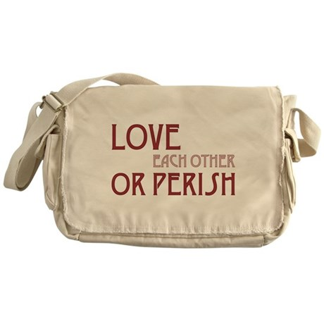 Love or Perish Canvas Messenger Bag