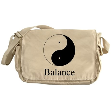 Daoist Balance Canvas Messenger Bag