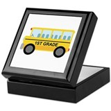 1st Grade School Bus Keepsake Box