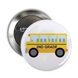 2nd Grade School Bus 2.25&quot; Button (10 pack)