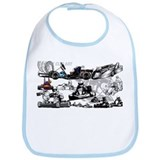 Funny Go cart racing Bib