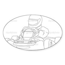 Cute Go cart Decal