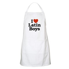 I Love Latin boys BBQ Apron