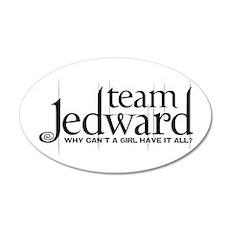 Team Jedward 38.5 x 24.5 Oval Wall Peel