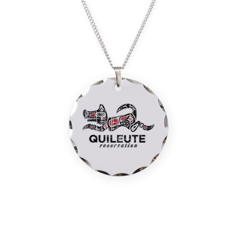 Quileute Reservation Necklace Circle Charm