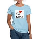 I Love Latin Girls Women's Pink T-Shirt