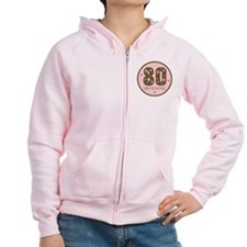 80 Years Young Birthday Zip Hoodie