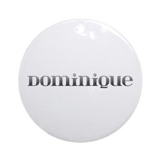 Dominique Carved Metal Round Ornament