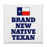 Native Texan Baby Tile Coaster