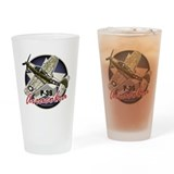 Airacobra P-39 Drinking Glass