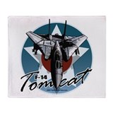 F-14 Tomcat Throw Blanket