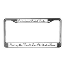 Professional Social Worker License Plate Frame