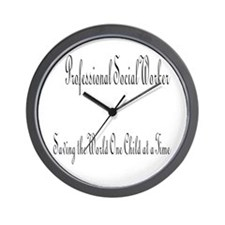 Professional Social Worker Wall Clock
