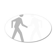 Hand Shake 22x14 Oval Wall Peel