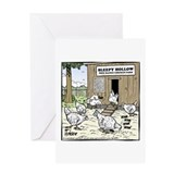 Head-Free Range Chickens Greeting Card