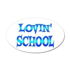 School Love 22x14 Oval Wall Peel