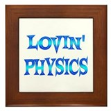 Physics Love Framed Tile