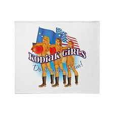 Kodiak Girls Do It in the Rai Throw Blanket