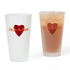 Heart Jack-A-Bee Drinking Glass