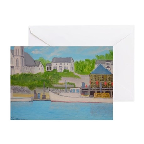 Boothbay Harbor II Greeting Cards (Pk of 10)