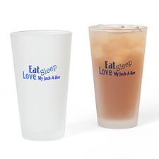 Eat Sleep Love My Jack-A-Bee Drinking Glass