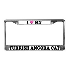 I Heart My Turkish Angora Cat License Plate Frame