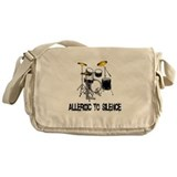 Allergic to silence drummer Messenger Bag