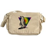Abstract Gay Pride Penguin Messenger Bag