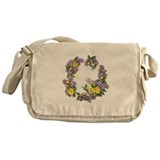 Lilacs & Yellow Roses Messenger Bag
