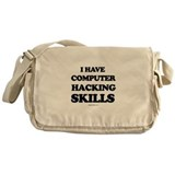 I have computer hacking skills ~ Messenger Bag