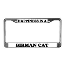 Happiness Is A Birman Cat License Plate Frame
