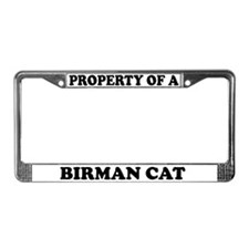Property Of A Birman Cat License Plate Frame