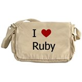 """I Love Ruby"" Messenger Bag"