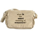 Funny Semantics Joke Messenger Bag