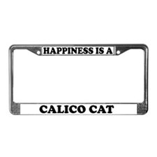Happiness Is A Calico Cat License Plate Frame