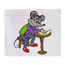 Mouse Writing Letter Throw Blanket