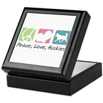 Peace, Love, Huskies Keepsake Box