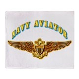Navy - Navy Aviator Badge Throw Blanket