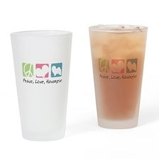 Peace, Love, Havanese Drinking Glass