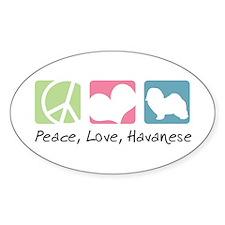 Peace, Love, Havanese Decal