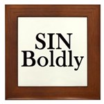 Sin Boldly Framed Tile