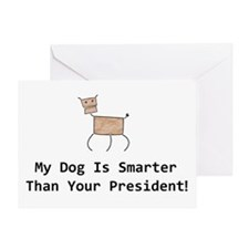 My dog is smarter than your Greeting Card