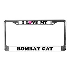 I Love My Bombay Cat License Plate Frame