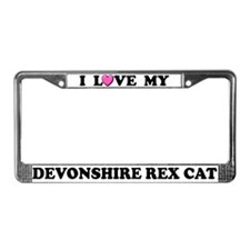 I Love My Devonshire Rex Cat License Plate Frame