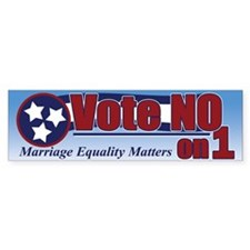Vote NO on 1 TN Bumper Bumper Sticker